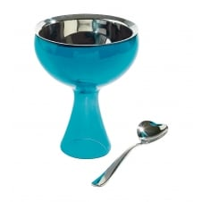 Big Love Ice Cream Bowl and Spoon - Azure
