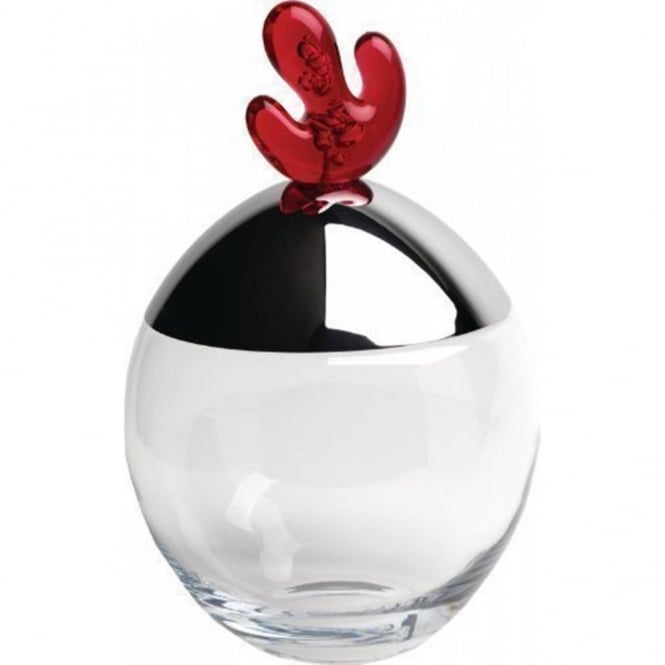 Alessi Big Ovo Biscuit/Storage Jar - Pomegranate Red