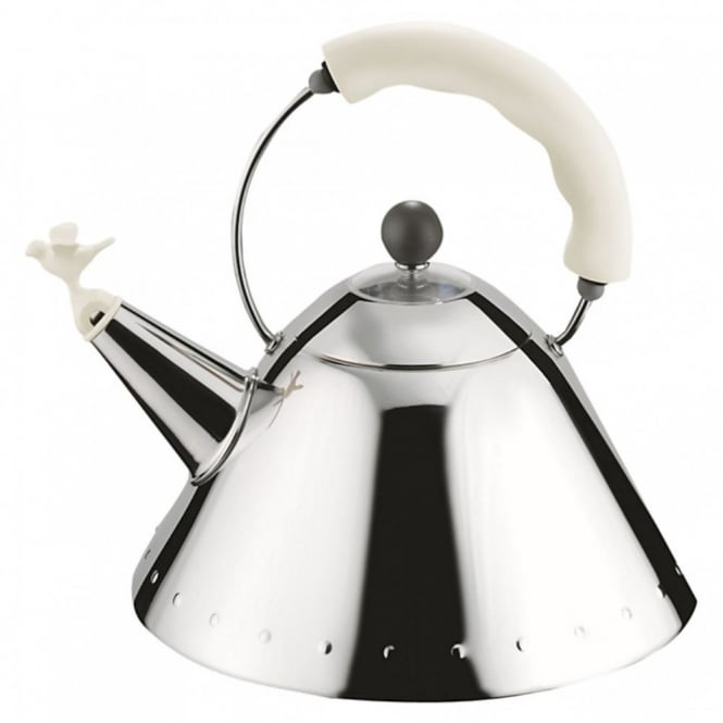 Alessi Bird Whistle Hob Kettle - White/Ivory