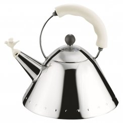Bird Whistle Hob Kettle - White/Ivory