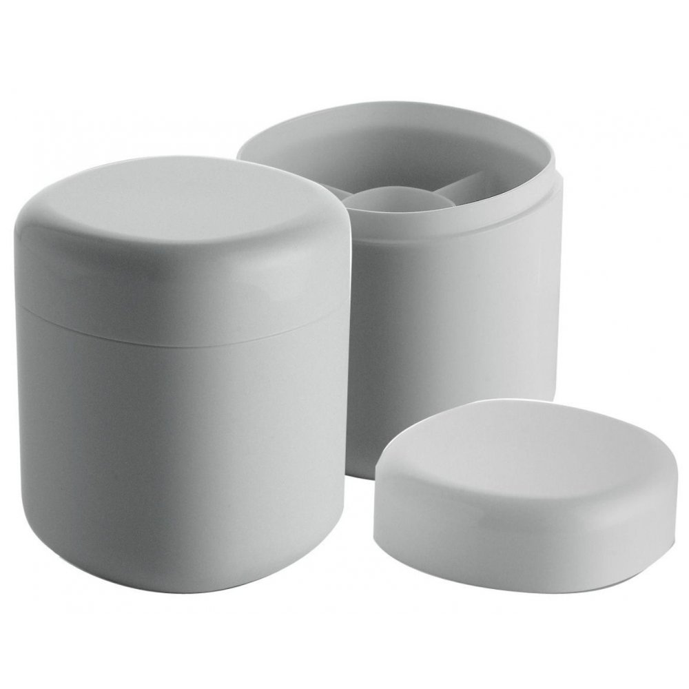 Alessi birillo cotton bud container white bed and bath for Bathroom containers