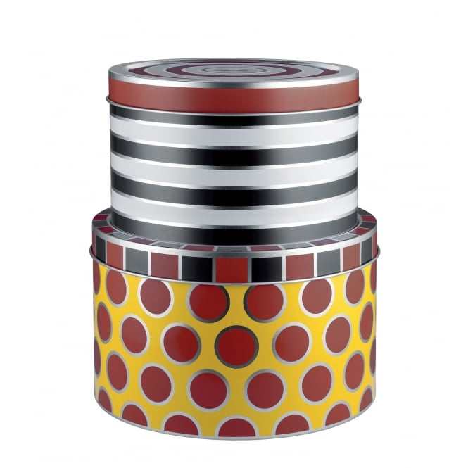 Alessi Circus - All Purpose Boxes in Multicolour Tinplate- Set of 2