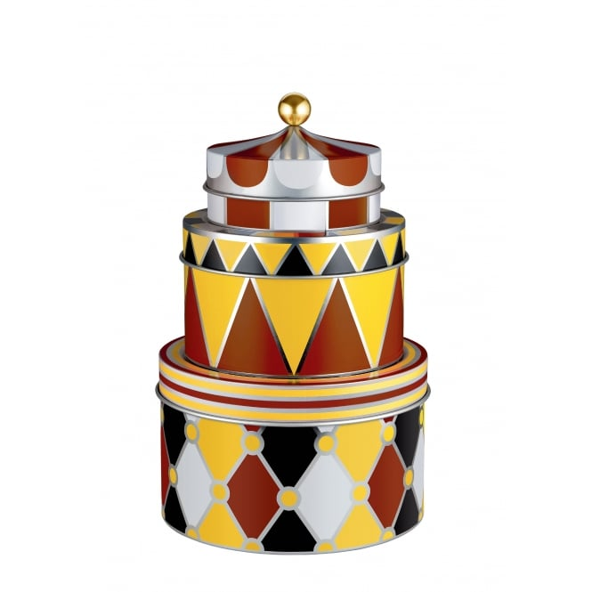 Alessi Circus - All Purpose Boxes in Multicolour Tinplate- Set of 3