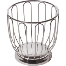 Citrus Fruit Basket - Mirror Polished Stainless Steel