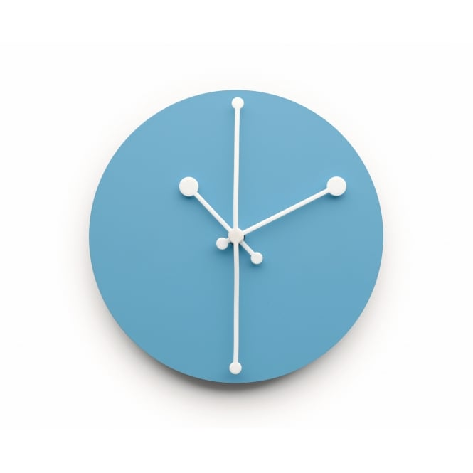 Alessi Dotty Wall Clock - Turquoise