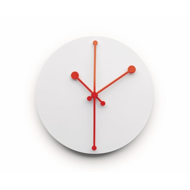 Alessi Dotty Wall Clock - White