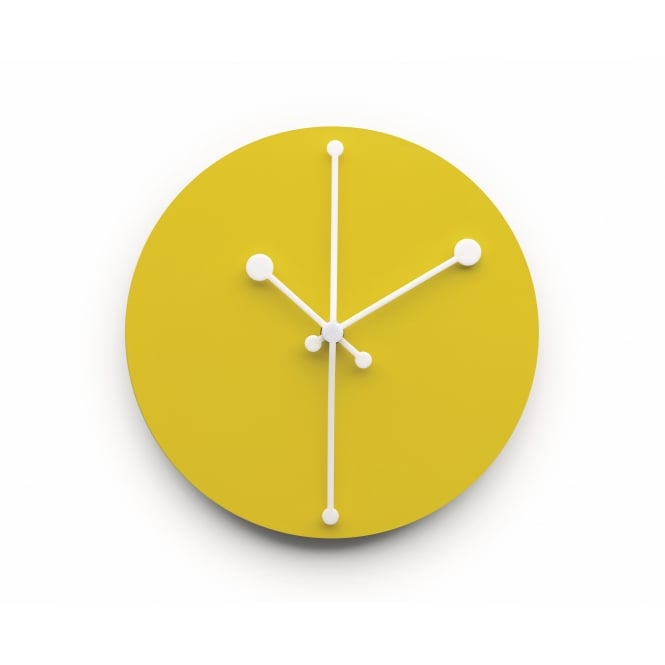 Alessi Dotty Wall Clock - Yellow