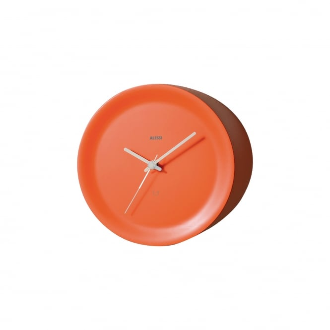 Alessi Edge Mounted Ora Out Wall Clock - Orange