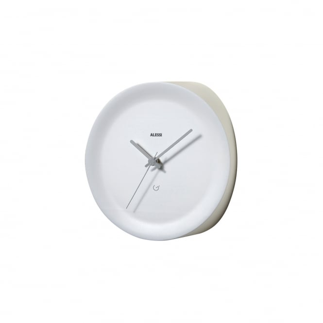 Alessi Edge Mounted Ora Out Wall Clock - White