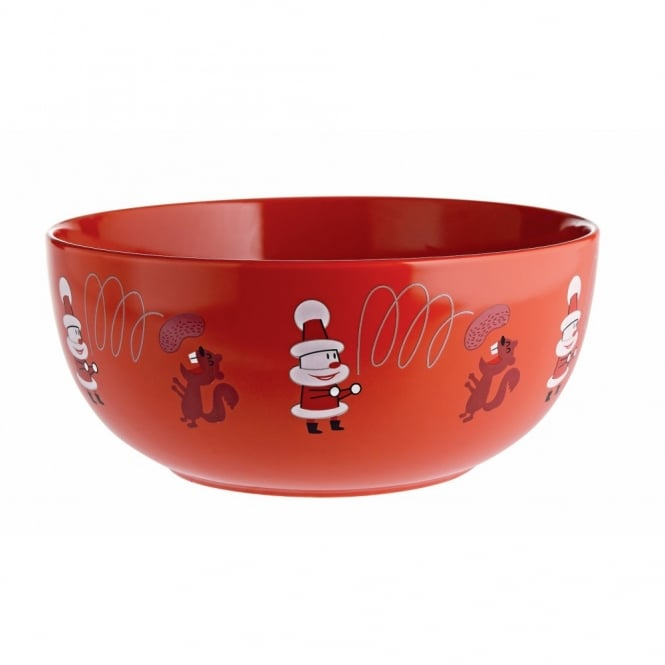 Alessi Get Nuts! Christmas Nut Bowl - Red