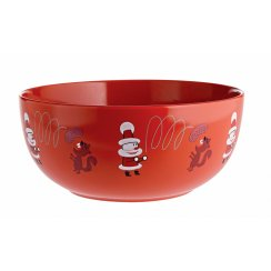 Get Nuts! Christmas Nut Bowl - Red