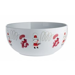 Get Nuts! Christmas Nut Bowl - White