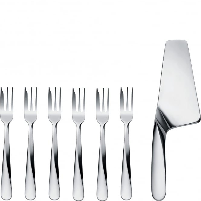 Alessi Giro Stainless Steel Cake Server & Pastry Fork Set