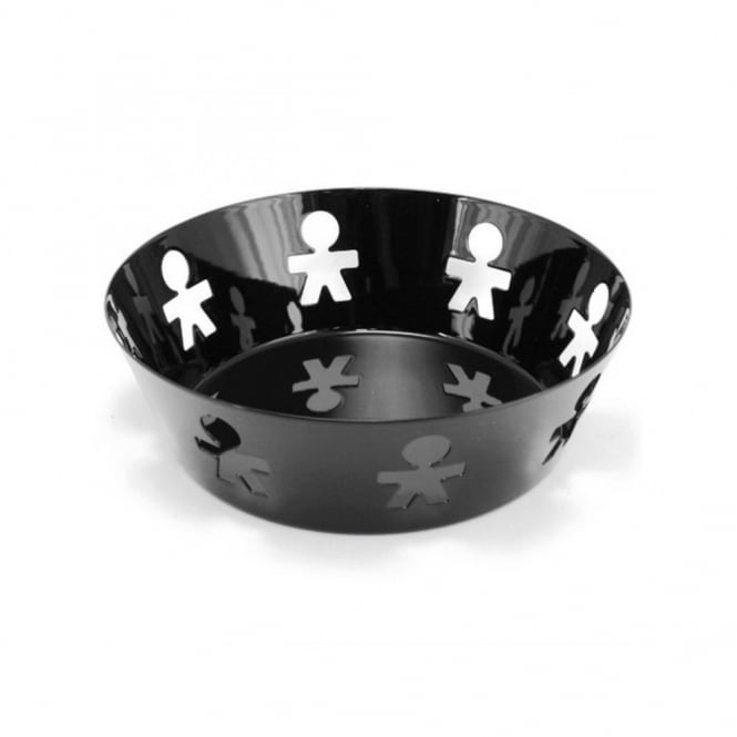 Black alessi girotondo basket fruit bowl small medium large - Alessi fruit bowl ...