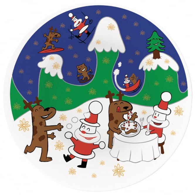 Alessi Happy Christmas Panettone Plate