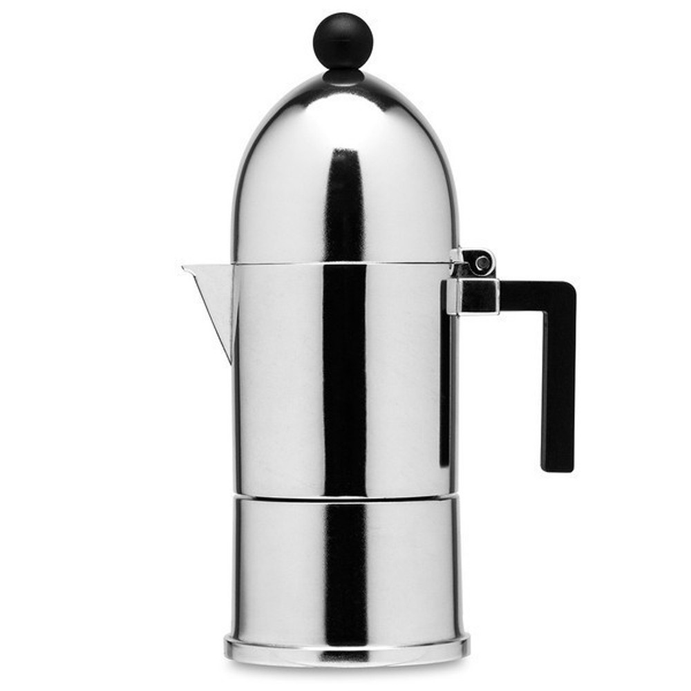 Alessi La Cupola With Black Trim 3 Cup And 6 Cup