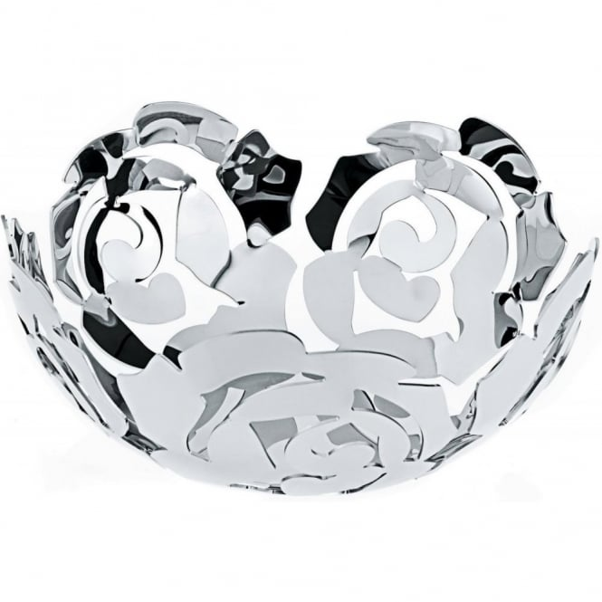 Alessi La Rosa Fruit Bowl - Stainless Steel
