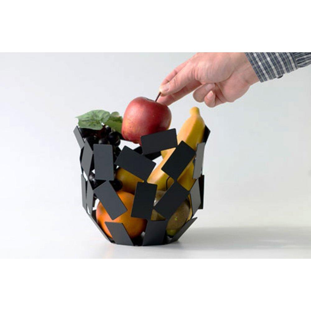 Alessi la stanza dello scirocco citrus basket black - Alessi fruit basket ...
