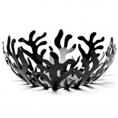 Mediterraneo Fruit Bowl - 29cm - Black