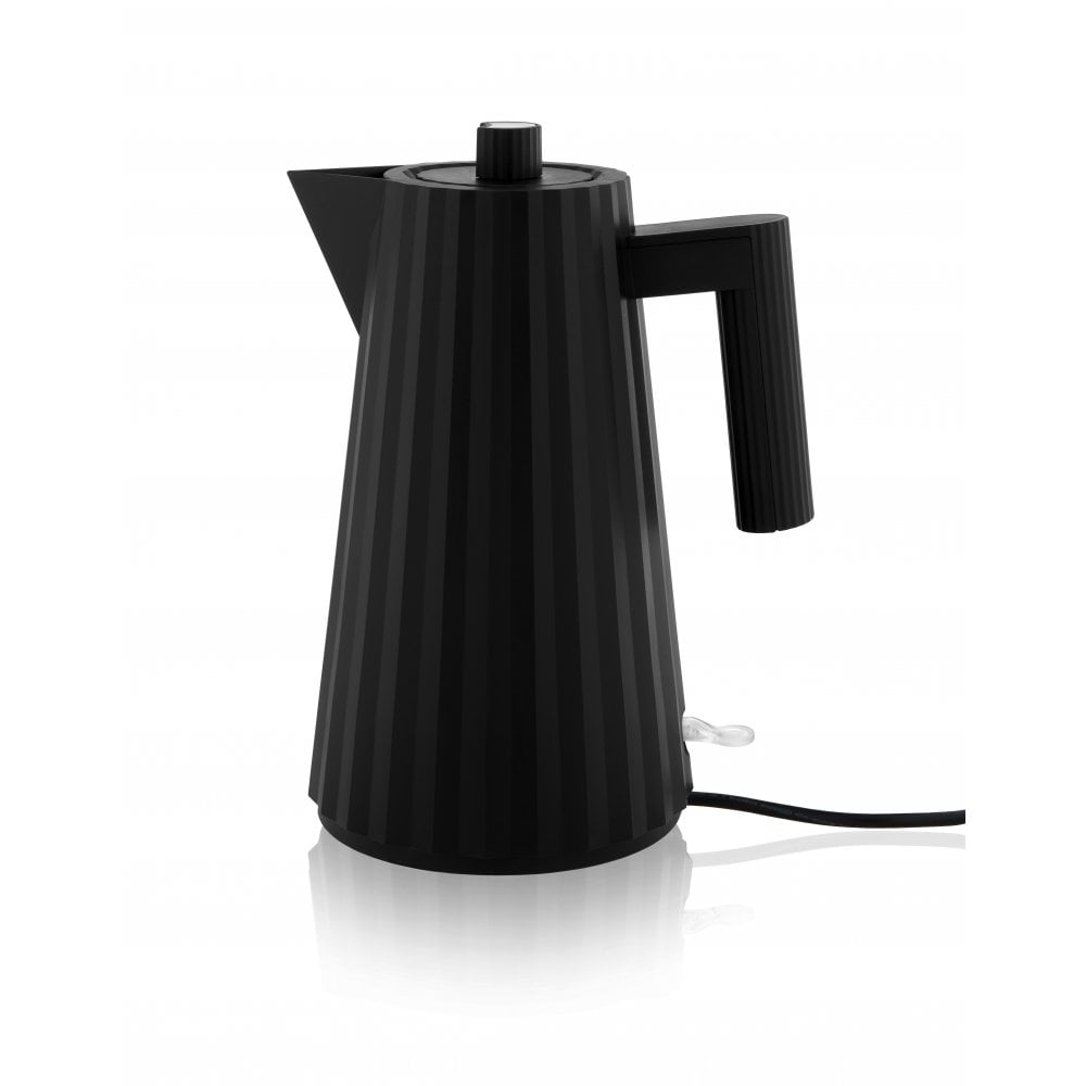Alessi Plisse Cordless Electric Kettle Black Black By