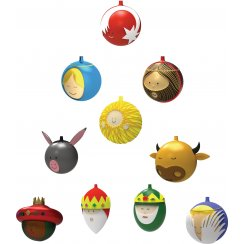 Set of 10 Christmas Baubles
