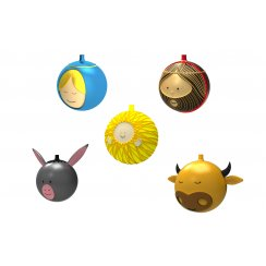 Set of 5 Christmas Baubles