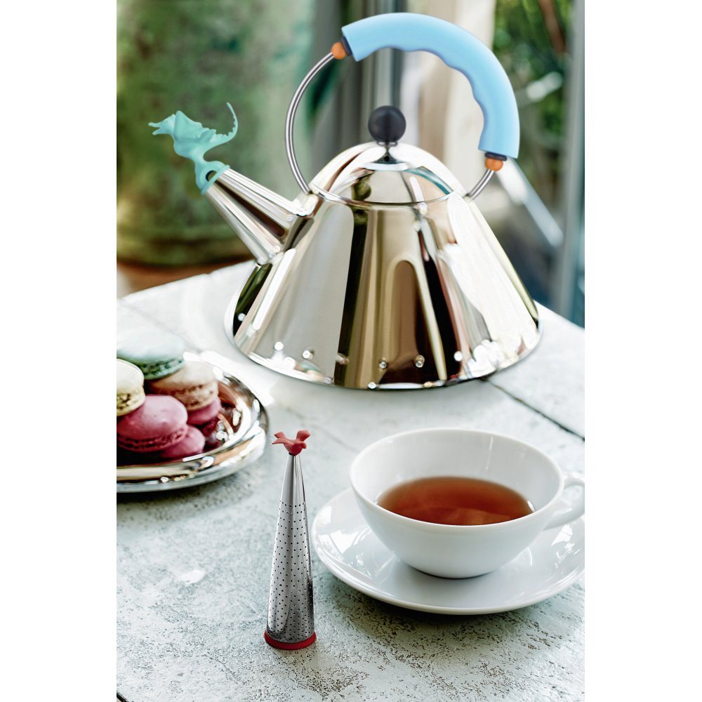 alessi michael graves dragon whistle kettle from black by design - tea rex hob kettle  blue