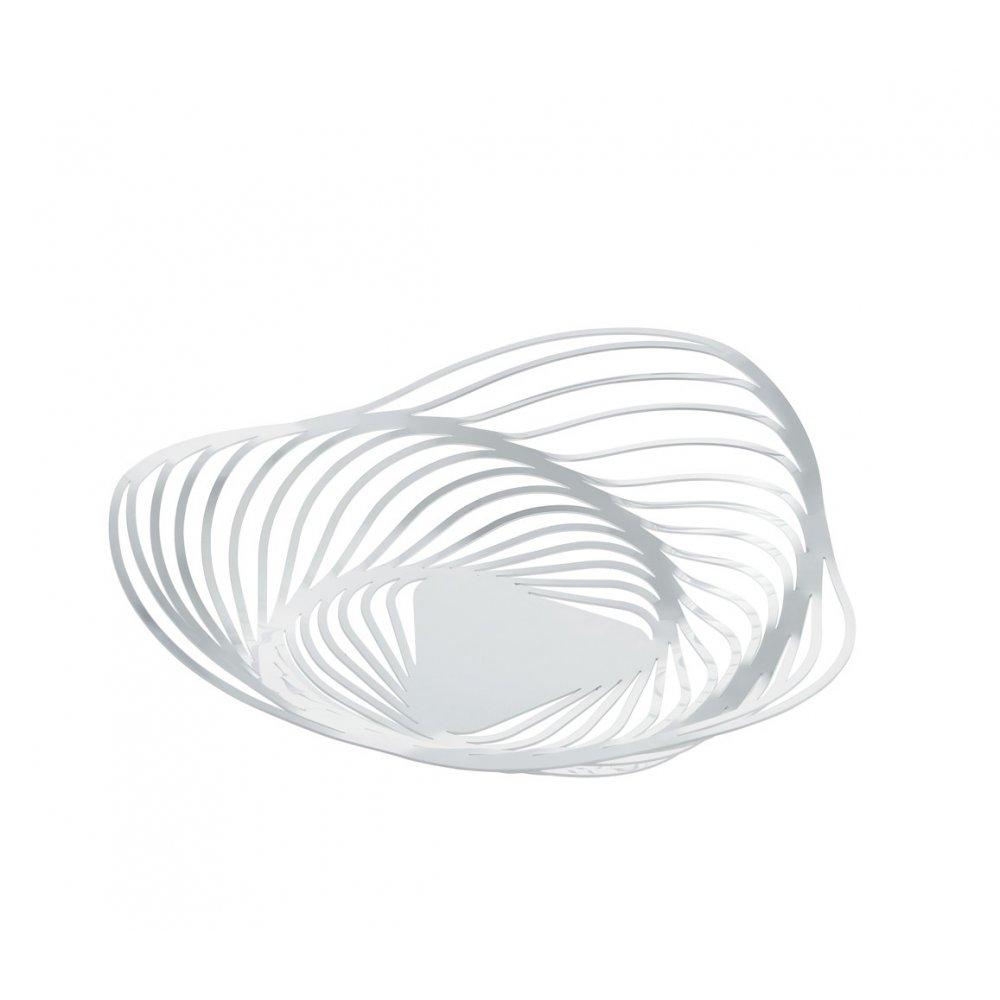 Alessi Trinity White Fruit Holder Aco03 Black By Design