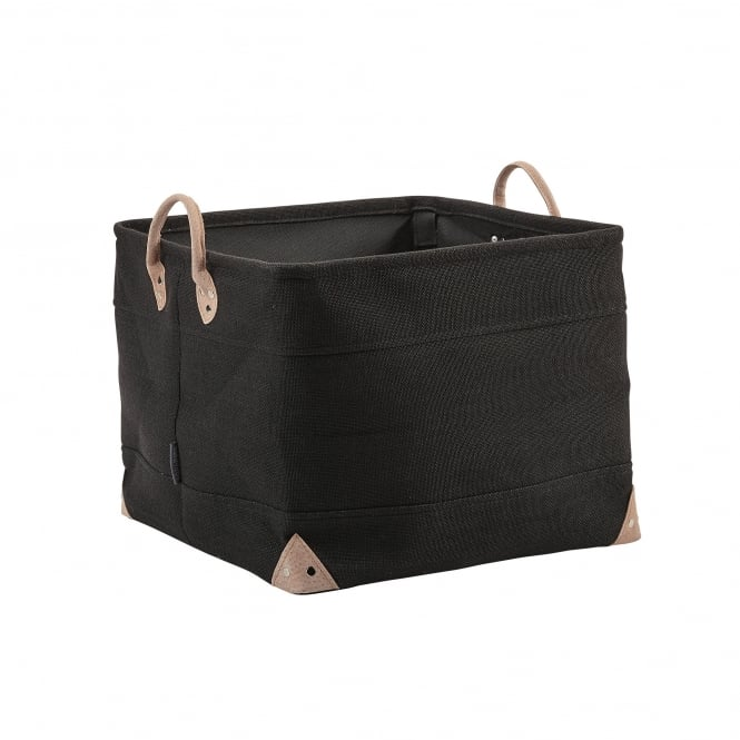 Aquanova Lubin Bathroom Storage Basket - Large - Black