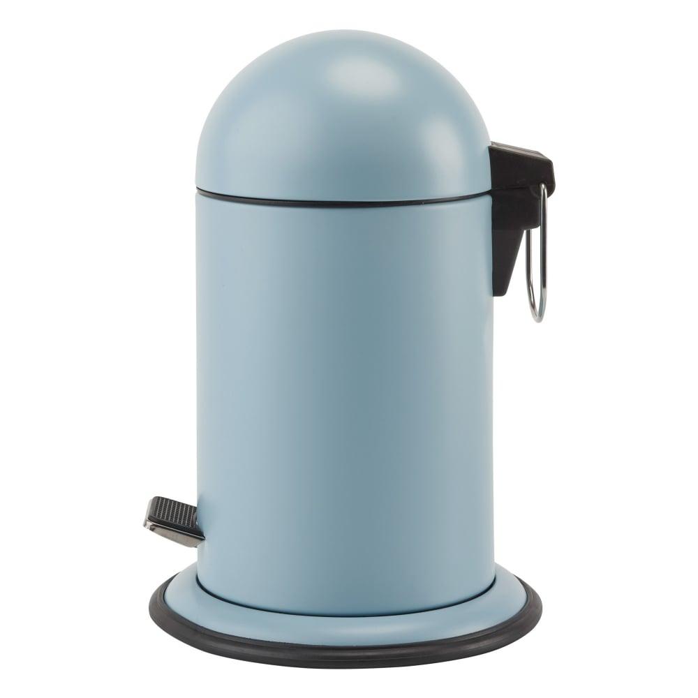 Aquanova Ona Bathroom Pedal Bin | Aquatic Blue | Black by Design