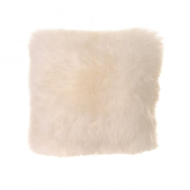 Baa Stool Square Cushion - Ivory Sheepskin