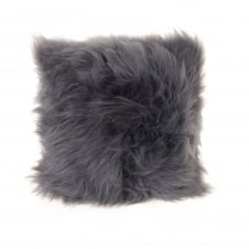 Square Cushion - Slate Grey Sheepskin