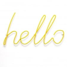 Hello Coat Rack - Yellow