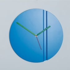Origami Pleat Fold Powder Coated Steel Wall Clock - Blue 30cm