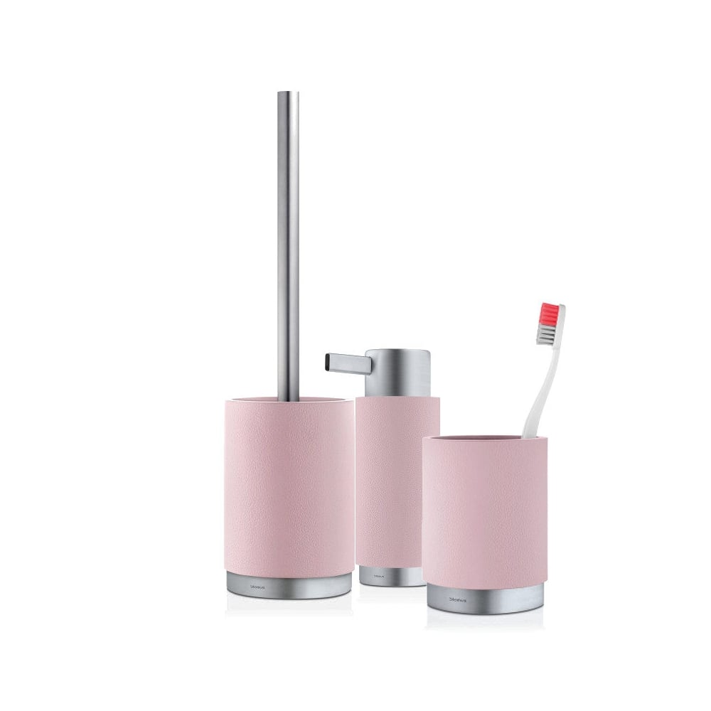 Blomus Ara Bathroom Set | Soft Rose Pink | Black by Design
