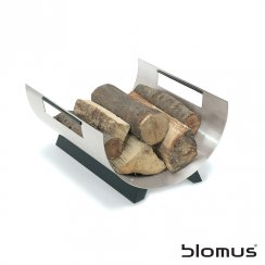 Chimo Log Basket - Stainless Steel
