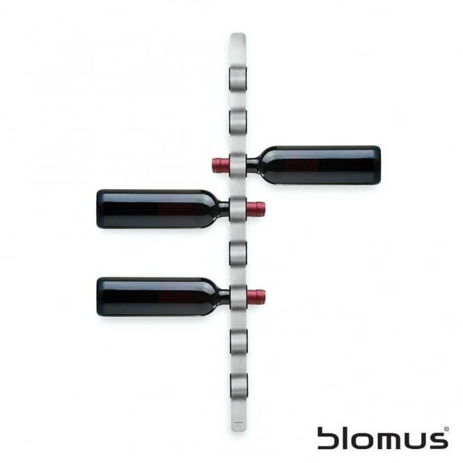 Blomus Cioso Wall Mounted Stainless Steel Wine Rack - 8 Bottles