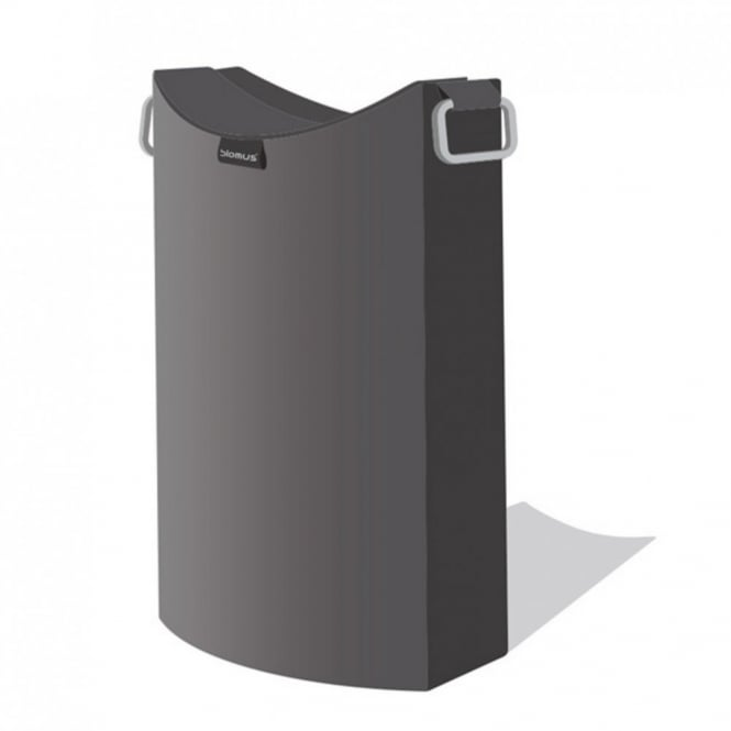 Blomus frisco laundry bin anthracite black by design for Dark grey bathroom bin