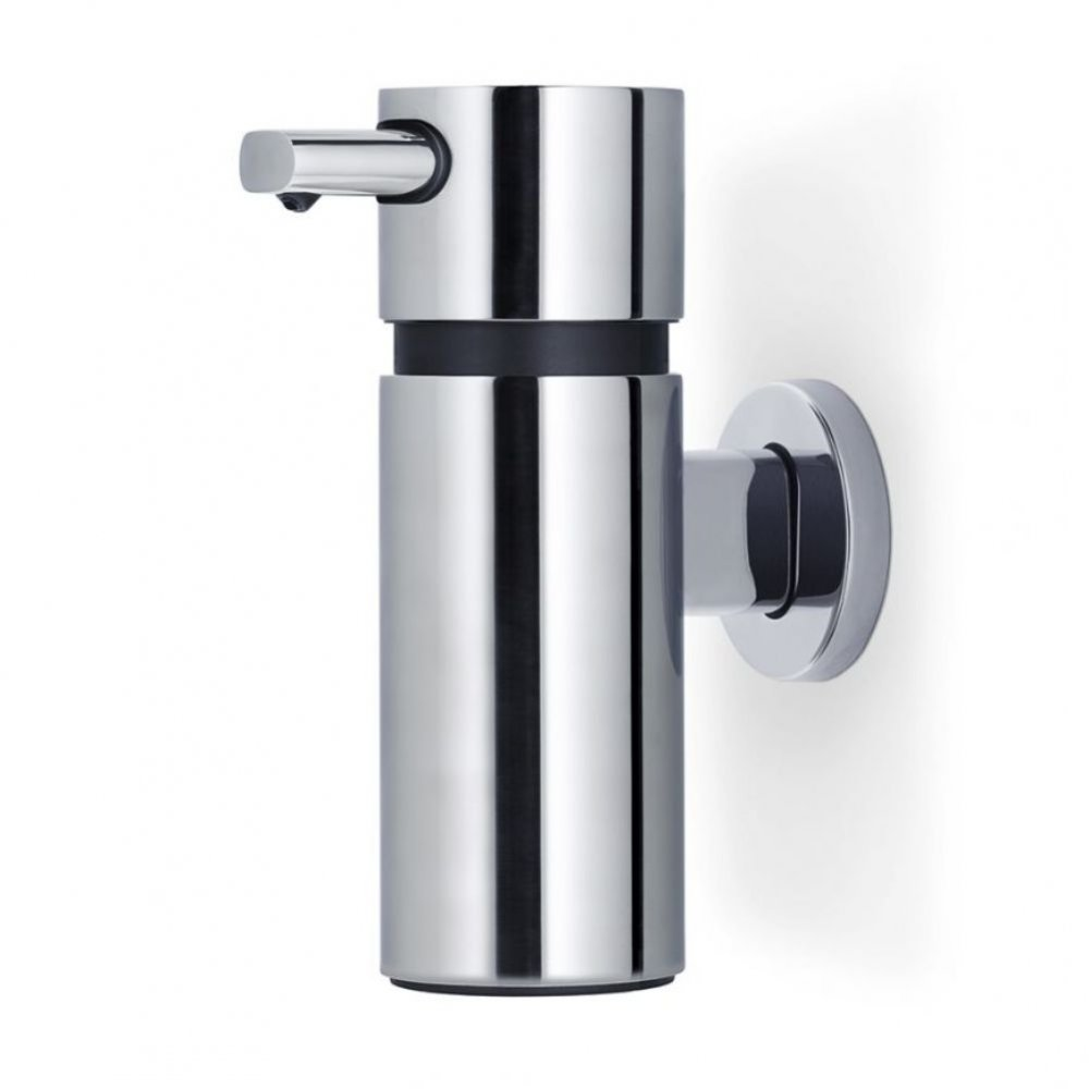 Blomus Areo Wall Mounted Soap Pump Stainless Steel Black By Design
