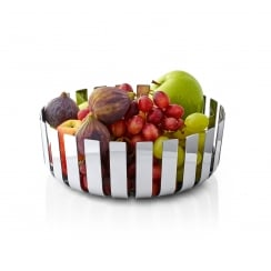 Gusto Polished Stainless Steel Fruit Bowl