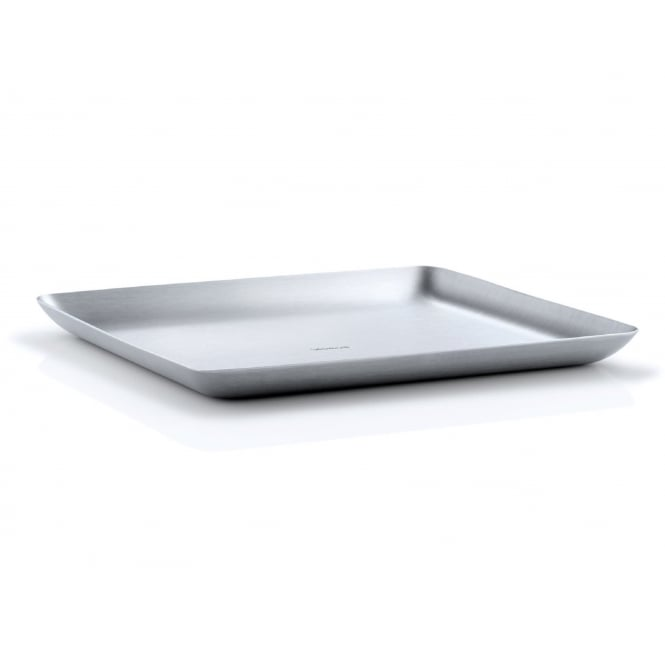 Blomus Matt Brushed Stainless Steel Serving Tray - 17cm x 20cm