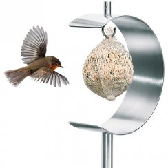 Nido Stainless Steel Bird Feeder - Half Moon
