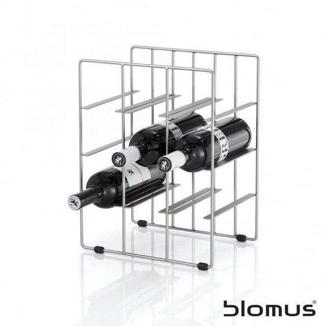 Blomus Pilare Stainless Steel Wine Rack 9 Bottles