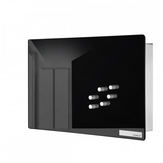 Blomus Velio Key Box and Glass Magnet Board - Black - 20cm