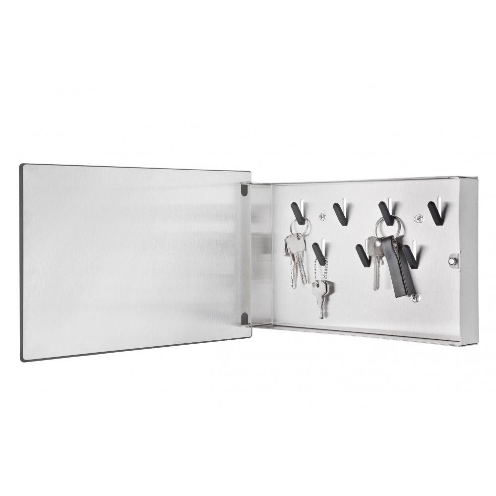 Blomus Velio Key Box And Magnet Board White 20cm Black By Design