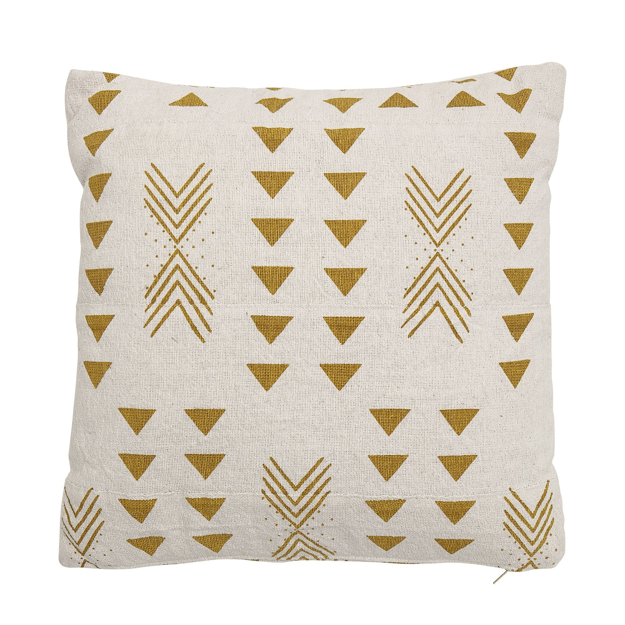 Buy Bloomingville Cream Gold Cotton Cushion Black By Design