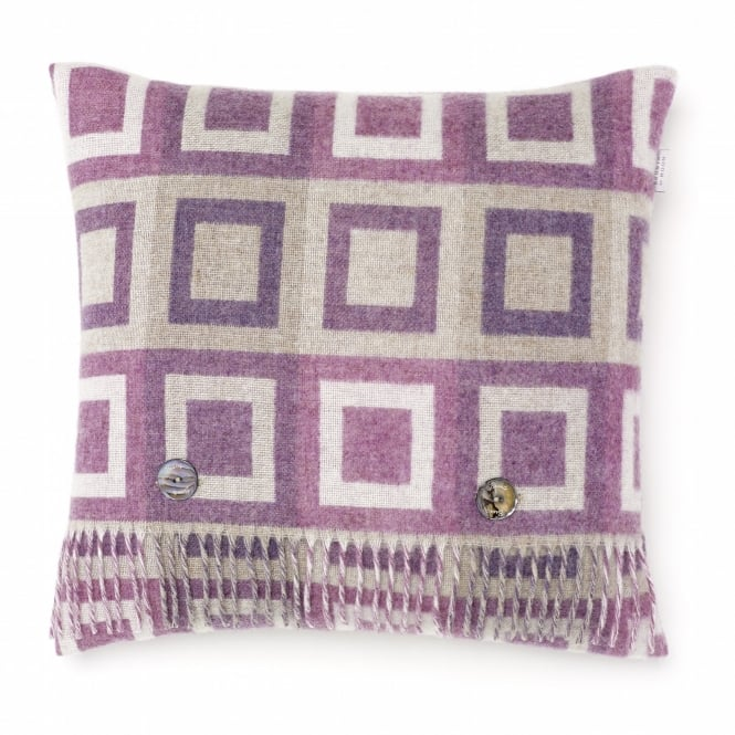 Bronte By Moon Double Square Lambswool Cushion - Lilac