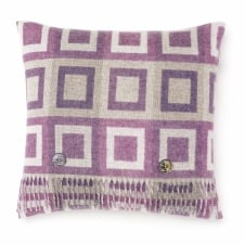 Double Square Lambswool Cushion - Lilac