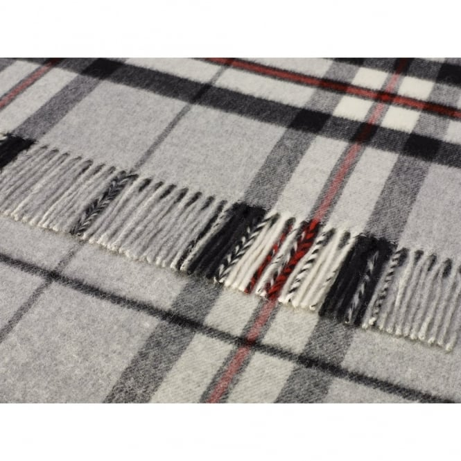 Bronte By Moon Grey Thompson Lambswool Throw