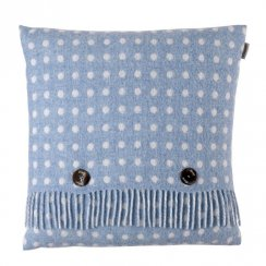 Luxury Lambswool Spot Cushion - Eau de Nil